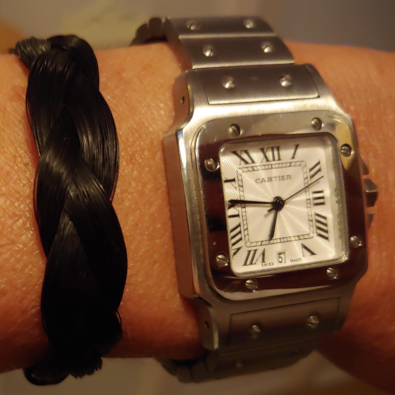 Plat gevlochten armband met haar van High 5