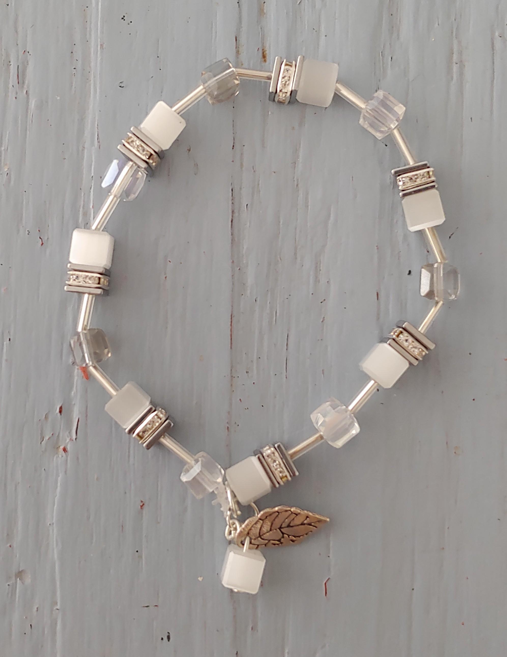 Armband van glaskralen